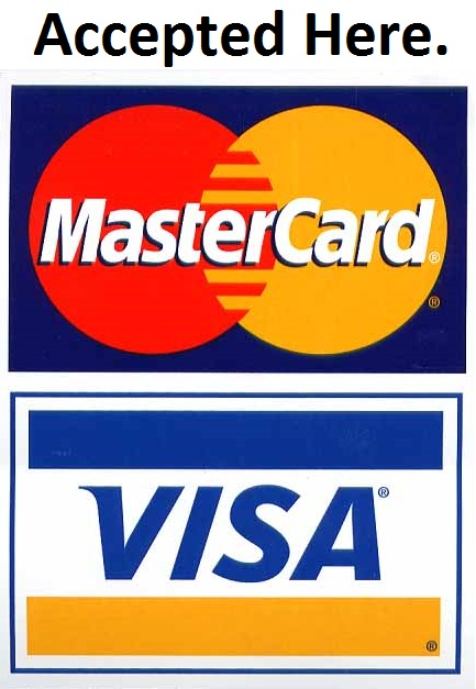 no credit cards accepted. 2010 Credit Cards Accepted at